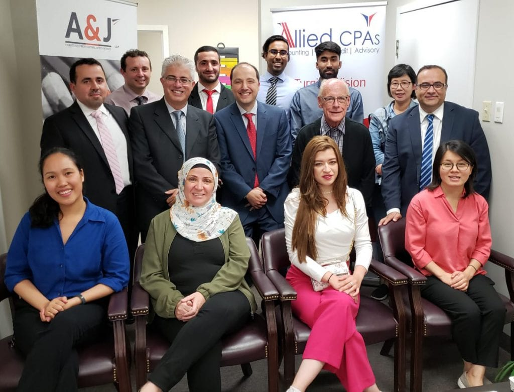 Allied CPA and A&J CPA staff - A&J Chartered Professional Accountants Merger in Mississauga, Ontario